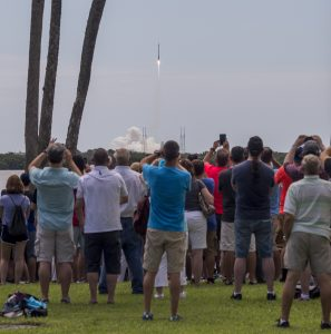 Launch viewing from Apollo Saturn V Center