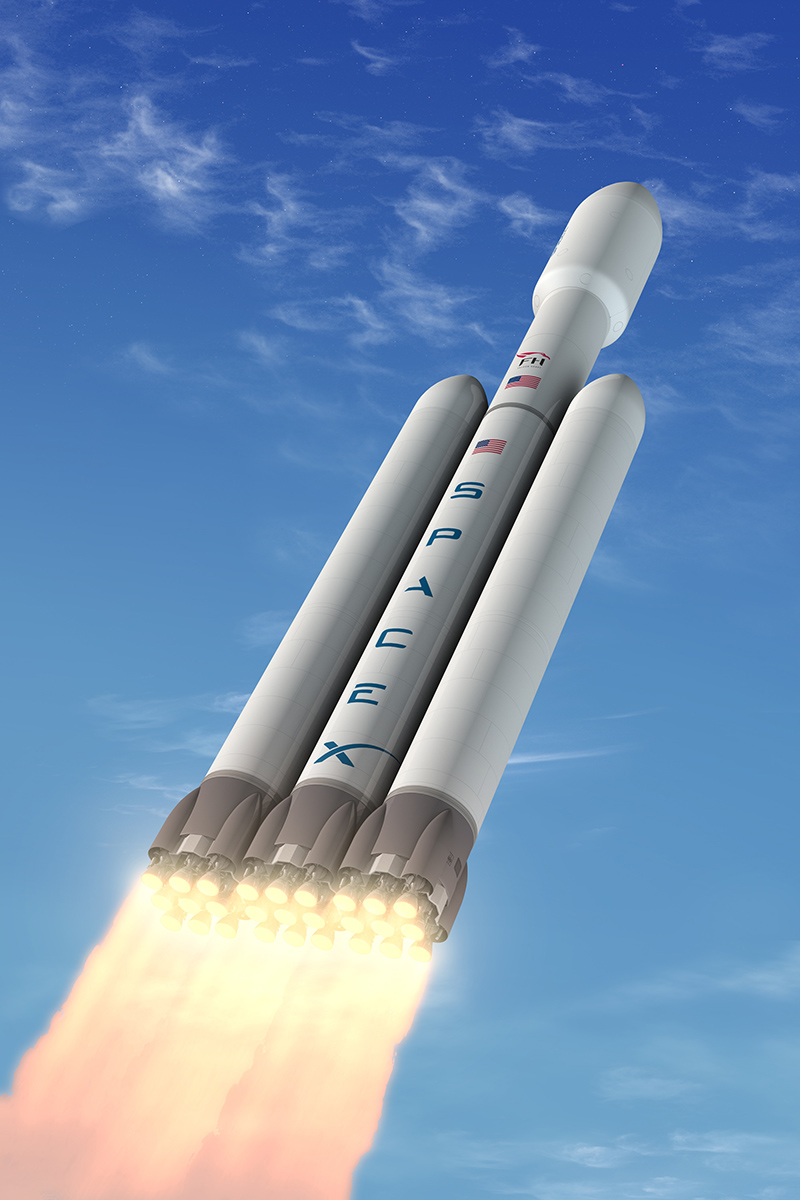 falcon heavy rocket concept-#9
