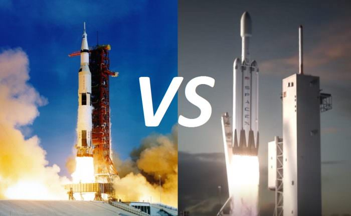 Falcon Heavy vs. Saturn V